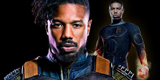 Michael-B-Jordan-as-Killmonger-in-Black-Panther-and-Johnny-Storm-in-Fantastic-Four