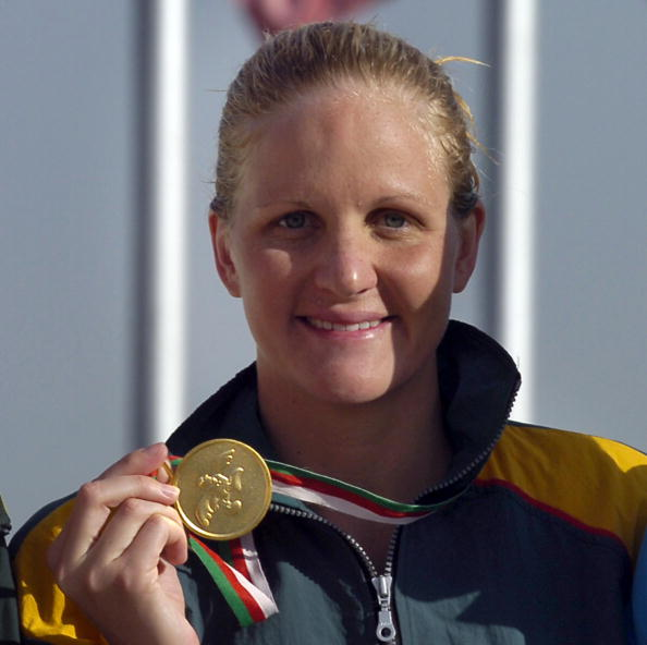 Zimbawean Kirsty Coventry poses 18 July