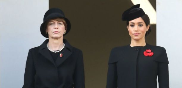 Meghan stood apart from the Queen, Camilla and Kate Middleton