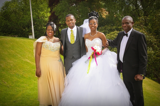 Wedding, (Proud parents Mr and Mrs Chihuri with their son and new daughter-in-law)